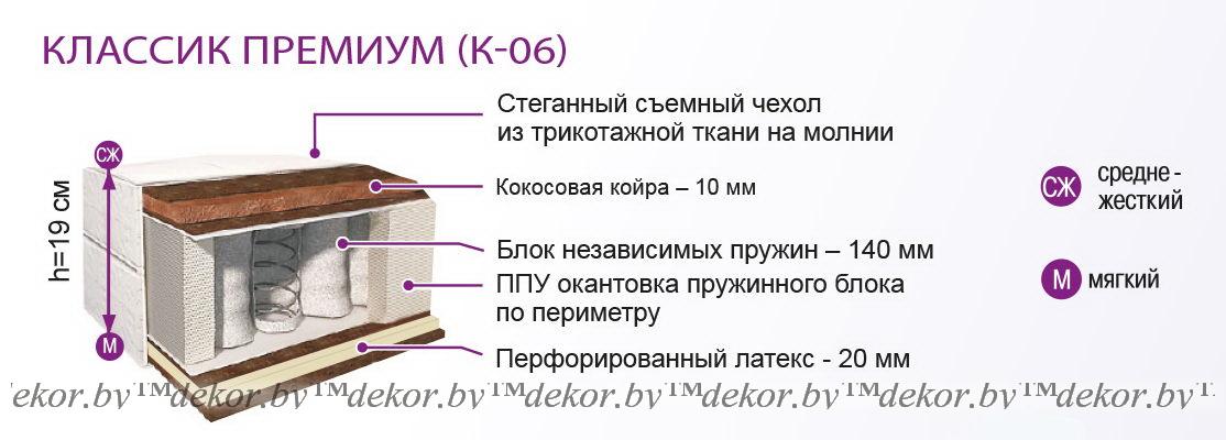 Матрас «Классик Премиум» К-06