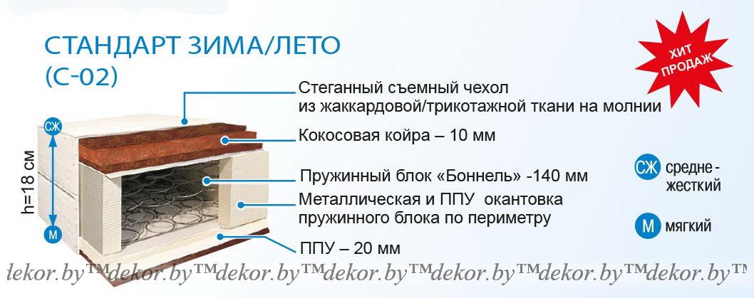 Матрас «Стандарт Зима-Лето» С-02