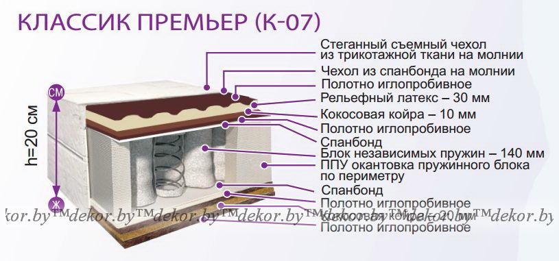 Матрас «Классик Премьер» К-07