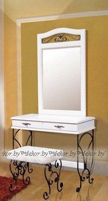 Стол туалетный с зеркалом Глория-8 Белый