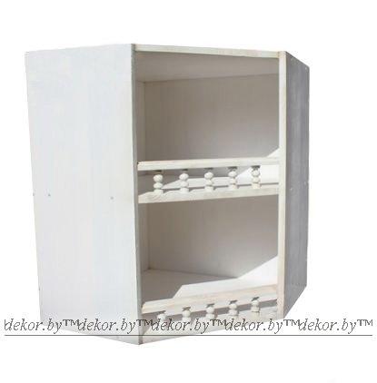 Шкаф настенный «Викинг GL» угловой браш.