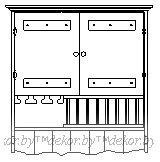 Шкаф настенный «Касита» 26